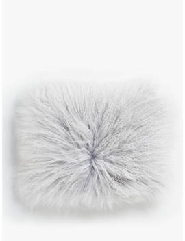 john-lewis-&-partners-mongolian-cushion,-pale-grey by john-lewis-&-partners
