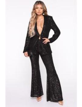 partys-here-sequin-pant-set---black by fashion-nova