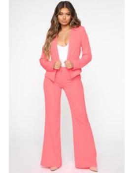 working-late-pant-set---neon-pink by fashion-nova