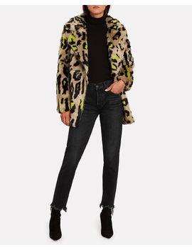 chloe-leopard-faux-fur-coat by apparis