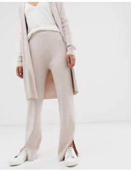 mango-ribbed-trouser-co-ord-in-beige by mango