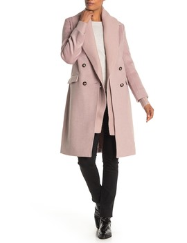 double-breasted-knit-collar-wool-blend-coat by badgley-mischka