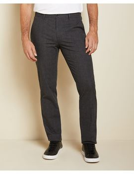 Slim Fit Slash Pocket Checkered Brushed Twill Pant   30'' by Rw & Co