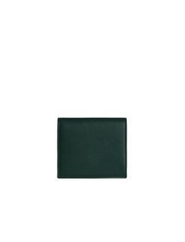 Walker Street Wallet   Bi Colour Bottle Green/Vanilla by Strathberry