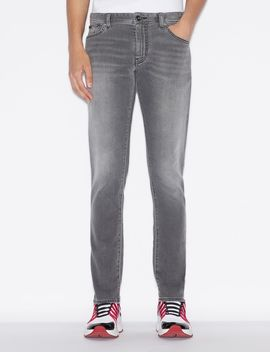Five Pocket Denim Skinny Jeans by Armani Exchange