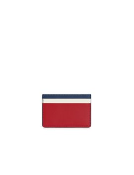 Cardholder   Tri Colour Navy/Ruby/Vanilla by Strathberry