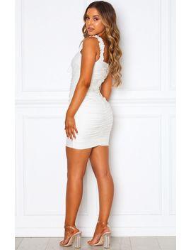 Bring The Drama Mini Dress White by White Fox