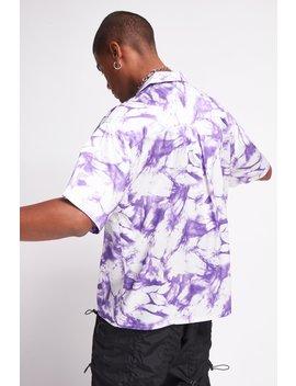 Skeleton Revolution Tie Dye Print Shirt by Jaded London