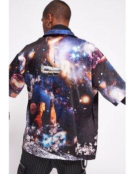 Space Scene Print Shirt by Jaded London