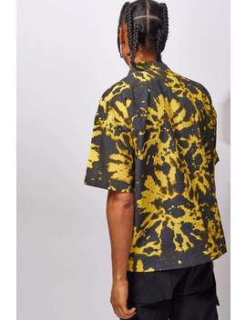 Black & Yellow Tie Dye Shirt With Utility Pockets by Jaded London