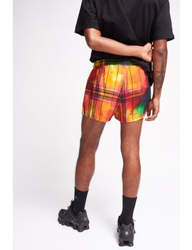 Tie Dye Check Print Shorts by Jaded London