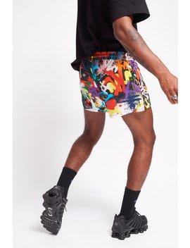 Graffiti Print Shorts by Jaded London