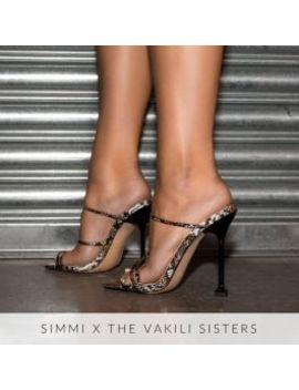 Marni Multi Snake Print Strappy Mule Heels by Simmigirl