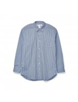 Cdg Shirt Forever Regular Fit Striped Poplin Shirt (Stripe 2) by Dover Street Market