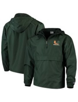 Champion Miami Hurricanes Green Packable Jacket by Fans Edge