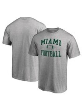 Fanatics Branded Miami Hurricanes Gray First Sprint T Shirt by Fans Edge