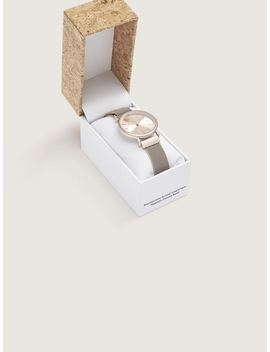 Champagne Mesh Watch With Magnetic Closure Champagne Mesh Watch With Magnetic Closure by Addition Elle