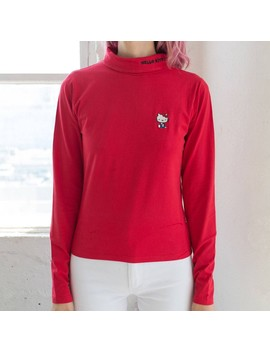 Lazy Oaf X Hello Kitty Women Skivvy Turtleneck Shirt (Red) by Bait