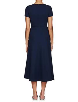 Wool Crepe Dress by Lisa Perry