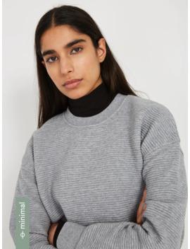 Textured Organic Cotton Blend Sweatshirt In Grey by Frank & Oak