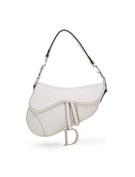 White Leather Saddle Bag by Christian Dior