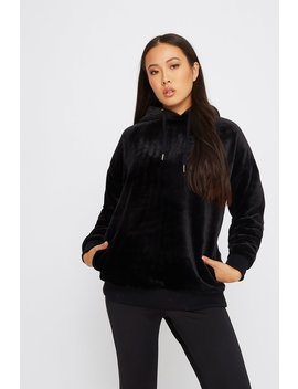 Oversized Faux Fur Hoodie by Urban Planet