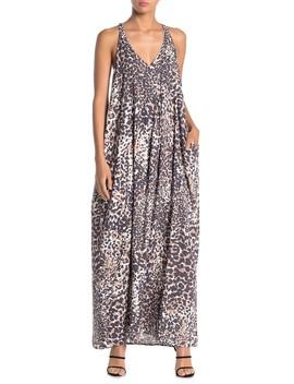Leopard Print Racerback Maxi Dress by Love Stitch