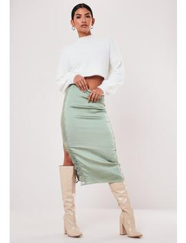 Green Lace Trim Midaxi Skirt by Missguided