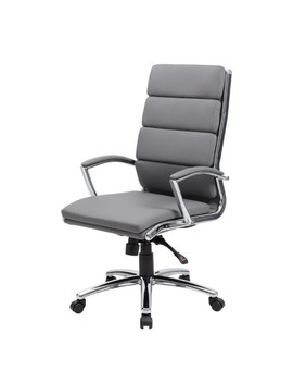 Boss Office Products Ergonomic Mid Manager And Executive Chair   Grey by Best Buy