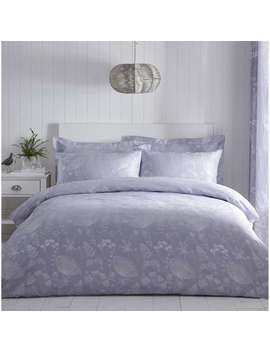 Cornflower Jacquard Blue Duvet Cover And Pillowcase Set by Dunelm