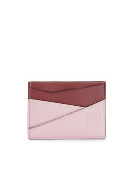Puzzle Plain Cardholder       Wine/Pastel Pink by Loewe