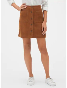 Button Front Corduroy Mini Skirt by Gap