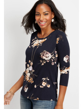 24/7 Floral Long Sleeve Layering Tee by Maurices