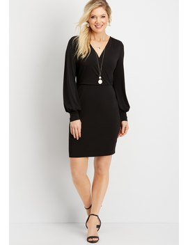 Lace Back Sheath Dress by Maurices