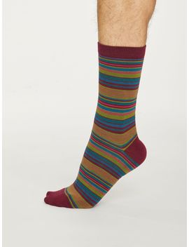 Kennet Stripe Bamboo Socks by Thought