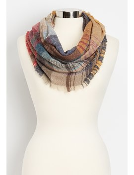 Multi Plaid Herringbone Infinity Scarf by Maurices