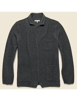 Superfine Merino Jacket   Heather Charcoal by Alex Mill
