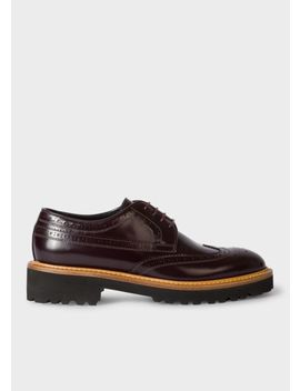 Women's Burgundy Leather 'vegas' Brogues by Paul Smith