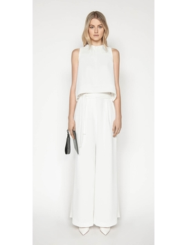 Belted Ivory Wide Leg Pant by Cue