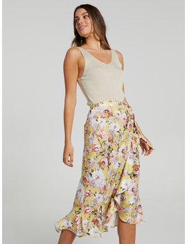 Summer Days Wrap Midi Skirt by Portmans