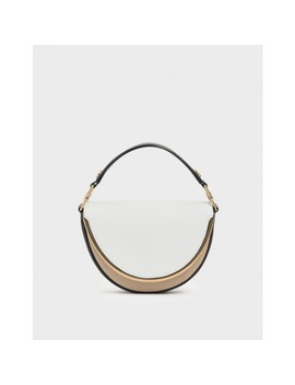 Two Tone Top Handle Semi Circle Bag by Charles & Keith