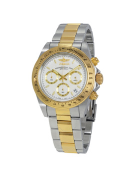 Speedway Chronograph White Dial Men's Watch by Invicta