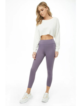 Active Seamed Capri Leggings by Forever 21