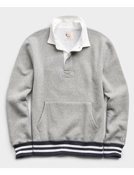 Rugby Sweatshirt In Light Grey Mix by Todd Snyder