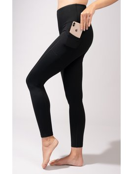 Cold Gear High Waist Fleece Lined Legging With Side Pocket by 90 Degree By Reflex