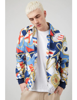 Nautical Print Windbreaker by Forever 21