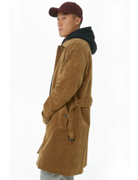 Corduroy Trench Coat by Forever 21