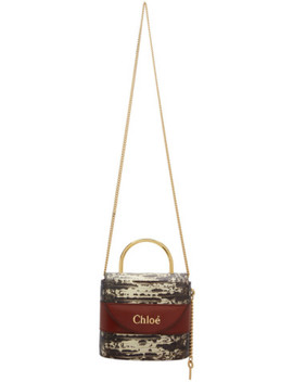 Brown Small Aby Lock Chain Bag by Chloé