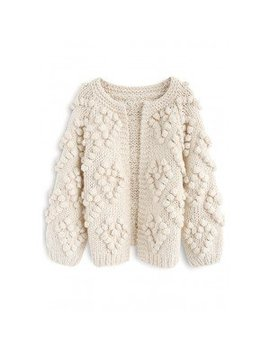 Knit Your Love Cardigan In Ivory  Knit Your Love Cardigan In Pink Knit Your Love Cardigan In Ivory For Kids Knit Your Love Turtleneck Sweater In Ivory Knit Your Love V Neck Sweater In Pink by Chicwish