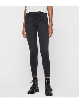 Grace Mid Rise Ankle Skinny Jeans, Washed Black by Allsaints